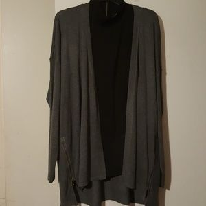 Worthington long charcoal cardigan